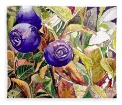 Wild Blueberries Fleece Blanket