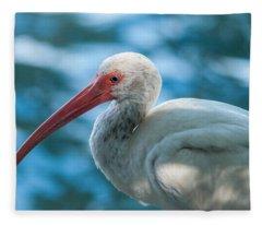 Wild Eyed Ibis Fleece Blanket