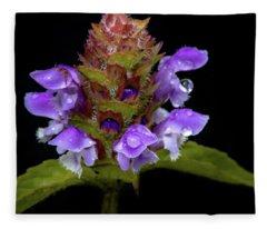 Wild Flower Portrait Fleece Blanket