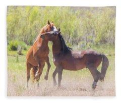 Wild Horse Action Fleece Blanket