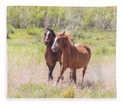 Wild Horse Chase Fleece Blanket