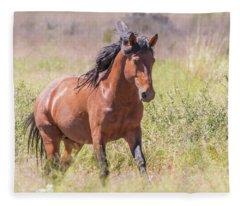 Wild Horse Gallop Fleece Blanket