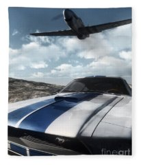 Wild Horses Fleece Blanket