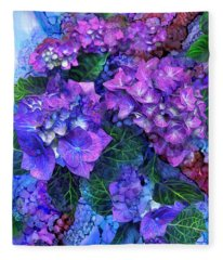 Wild Hydrangeas Fleece Blanket