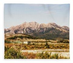 Wild Mountain Range Fleece Blanket