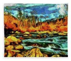 Wild Nature Scenery Fleece Blanket