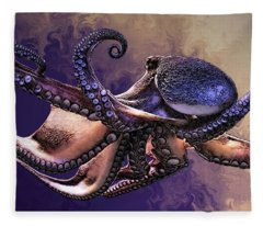 Wild Octopus Fleece Blanket