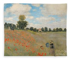 Wild Poppies Near Argenteuil Fleece Blanket
