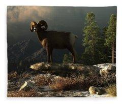 Wild Ram Fleece Blanket