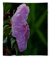 Wild Rose After The Rain Fleece Blanket