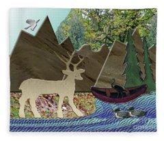 Wild Rural Animals Fleece Blanket