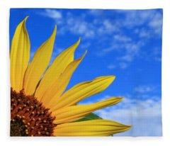 Wild Sunflower Fleece Blanket