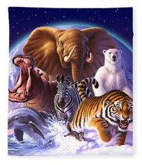 Wild World Fleece Blanket