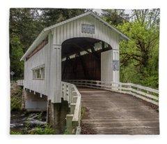 Wildcat Creek Bridge No. 1 Fleece Blanket
