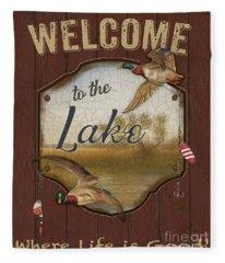 Wilderness Lodge-c Fleece Blanket