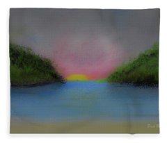 Wilderness Sunrise Fleece Blanket