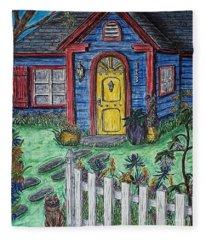 Wildflower Cottage Fleece Blanket