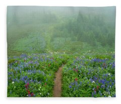 Wildflower Meadow Trail Fleece Blanket