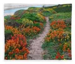 Wildflower Path At Ribera Beach Fleece Blanket