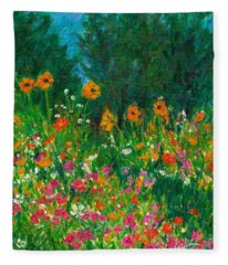 Wildflower Rush Fleece Blanket