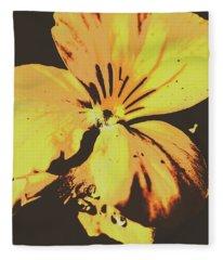 Wildflowers In Posterization Fleece Blanket