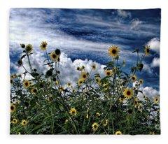 Wildflowers On The Brazos Fleece Blanket