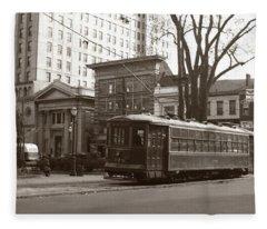 Wilkes Barre Pa Public Square Oct 1940 Fleece Blanket