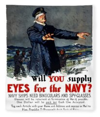 Will You Supply Eyes For The Navy Fleece Blanket