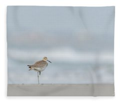 Willet On One Leg Fleece Blanket
