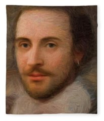 William Shakespeare Fleece Blanket
