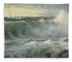 William Trost Richards American 1833  1905   Seascape Fleece Blanket