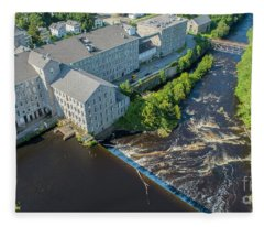 Willimantic River And Mill #2 Fleece Blanket