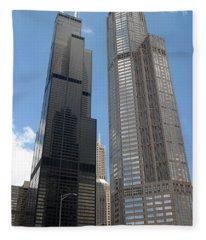 Willis Tower Aka Sears Tower And 311 South Wacker Drive Fleece Blanket