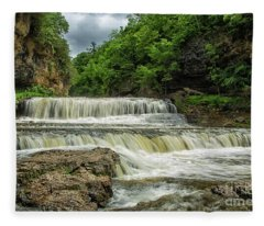 Willow Falls Willow River State Park Hudson Wisconsin Fleece Blanket