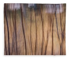 Willows In Winter Fleece Blanket