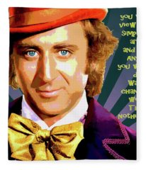 Willy Wonka Inspirational Poster Fleece Blanket