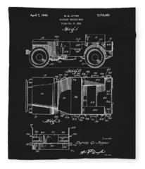 Willy's Military Jeep Patent Fleece Blanket