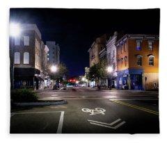 Wilmington Bike Lane Fleece Blanket
