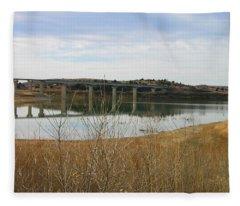 Wilson Lake Hell Creek Bridge Fleece Blanket