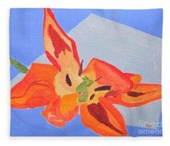 Wilted Tulip Fleece Blanket