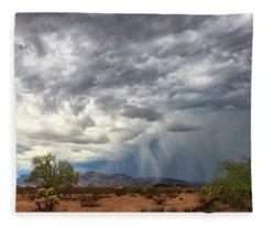 Fleece Blanket featuring the photograph Wind And Rain by Rick Furmanek