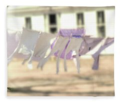 Wind In The Washline Fleece Blanket