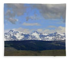 Dm9504-wind River Range Panorama  Fleece Blanket