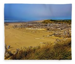 Wind Swept Beach Fleece Blanket