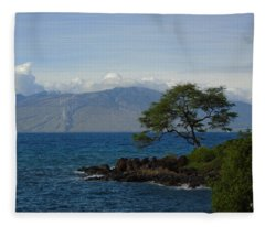 Wind Turbines - Maui Fleece Blanket