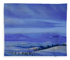 Winding Roads Fleece Blanket