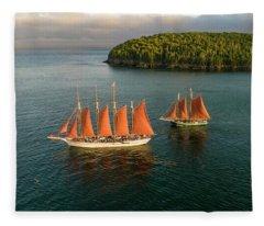 Windjammer Cruises  Fleece Blanket