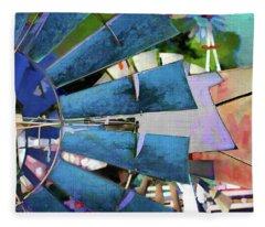 Windmill 3 Fleece Blanket