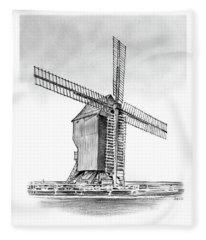Windmill At Valmy Fleece Blanket