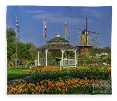 Windmill Island Gardens  Fleece Blanket